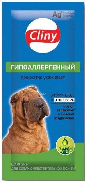 Шампунь для собак Cliny Гипоаллергенный, витамины А