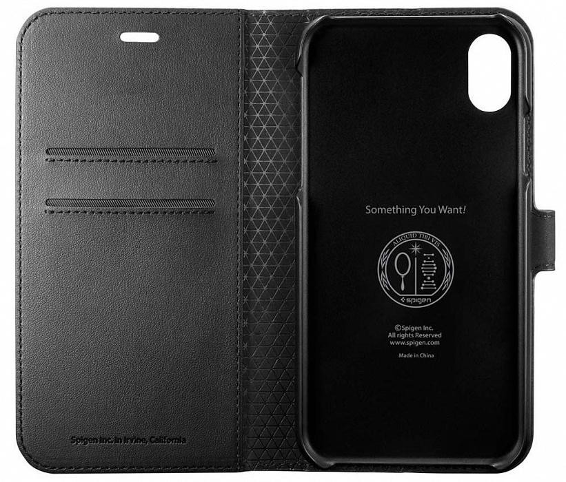 Чехол Spigen Wallet S (064CS24881) для iPhone XR (Black)