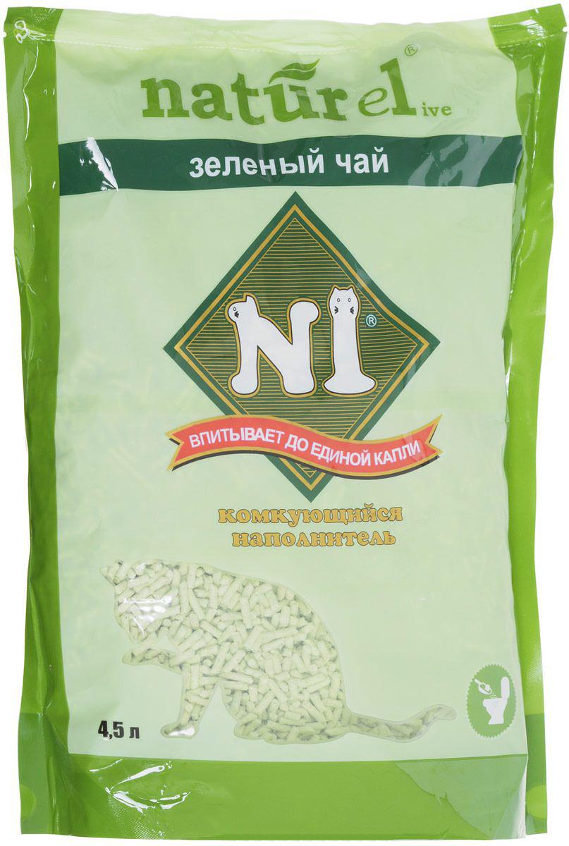 Наполнитель для кошачьего туалета N1 Naturel Зеленый чай 4,5 л