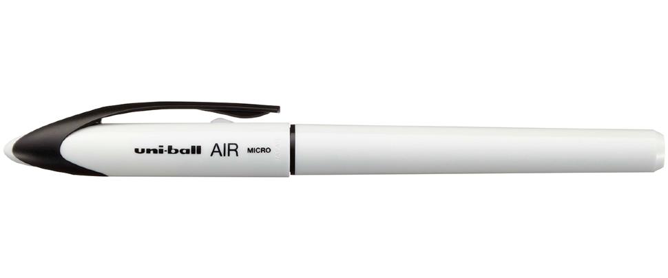 Ручка роллер Uni-Ball Air Micro 0,5мм цветной корпус (белый, 1 штука)