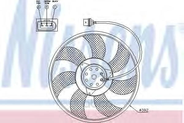 Вентилятор охлаждения двигателя Nissens 85549