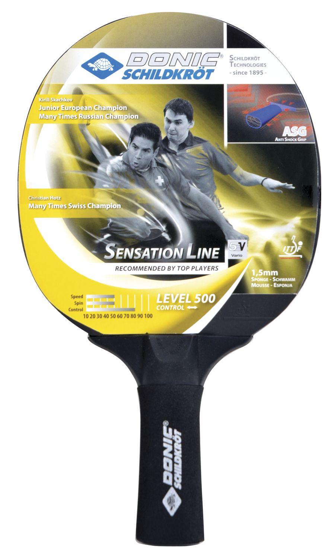 Ракетка для настольного тенниса Donic 714402 Sensation 500, черная