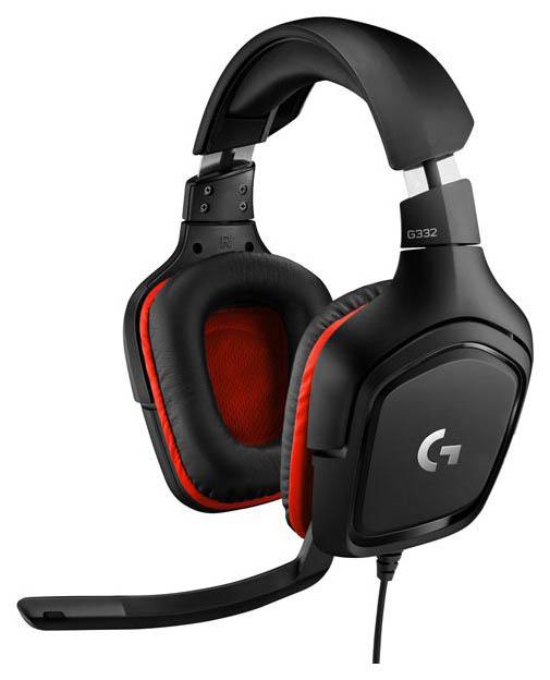 Игровые наушники Logitech G332 Black/Red, G332