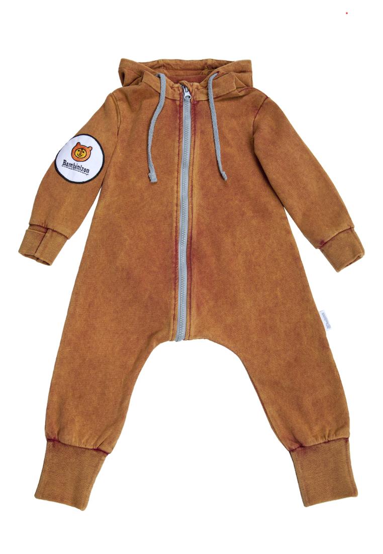 Купить Комбинезон Bambinizon из футера Варенка терракотовая ТКМ-ВБ р.56, Слипы и комбинезоны для новорожденных
