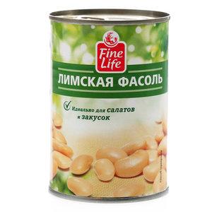 Фасоль Fine Life лимская в рассоле консервированная 400 г