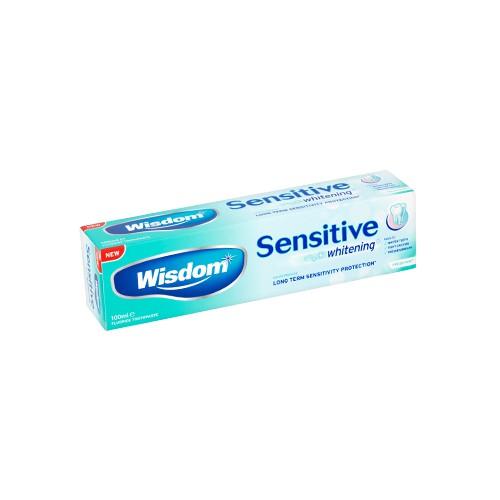 Зубная паста Wisdom Sensitive Plus Whitening для чувствительных зубов 100 мл