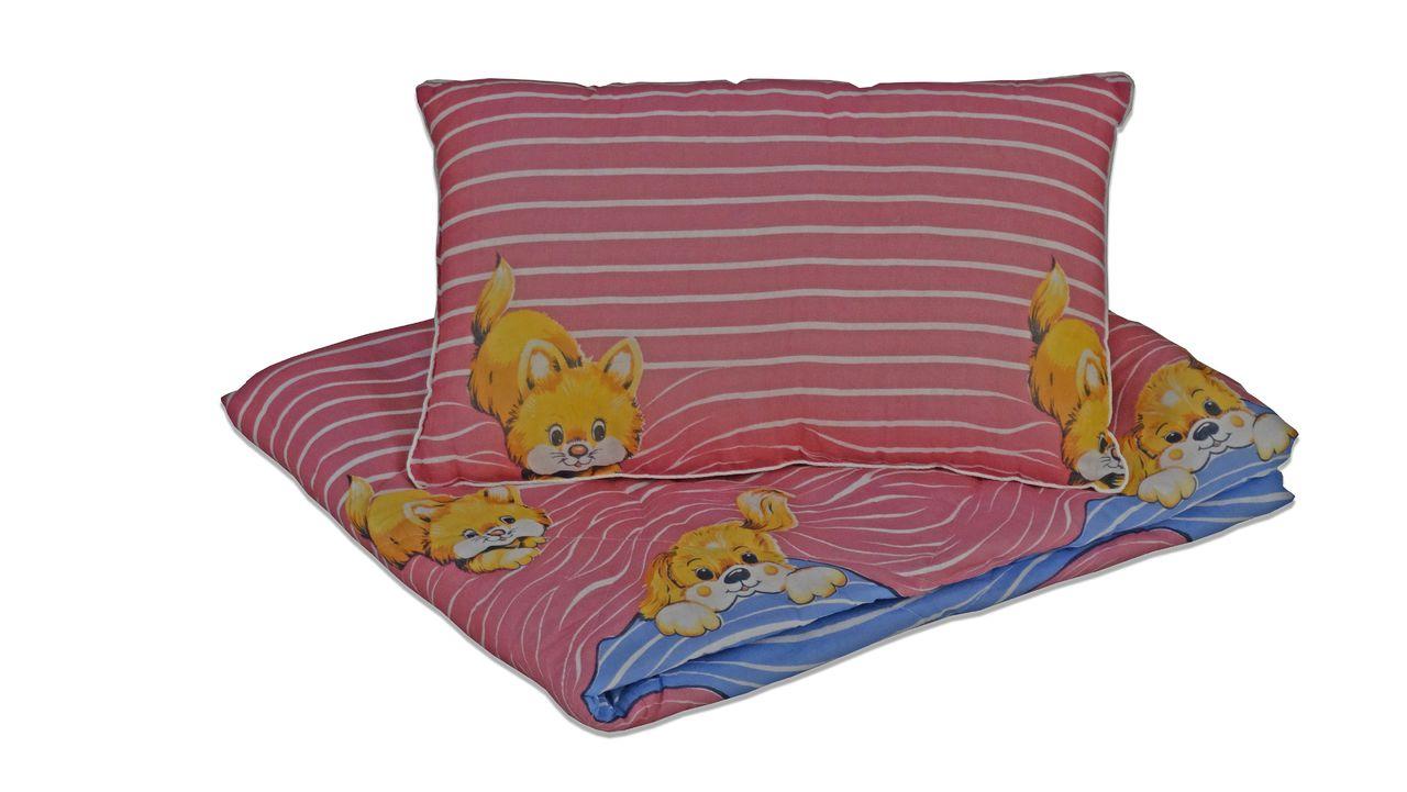 Комплект одеяло и подушка МИ Розовые волны