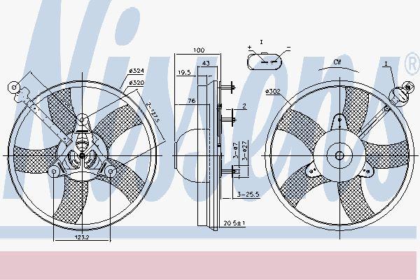 Вентилятор охлаждения двигателя NISSENS 85759