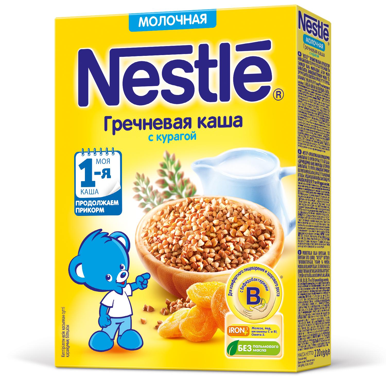 Каша молочная Nestle Гречневая с курагой с 5 мес. 220 г