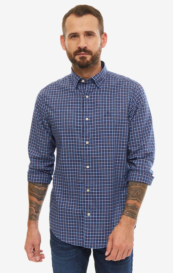 Рубашка мужская GANT 3017130.435 синяя/белая/желтая XL