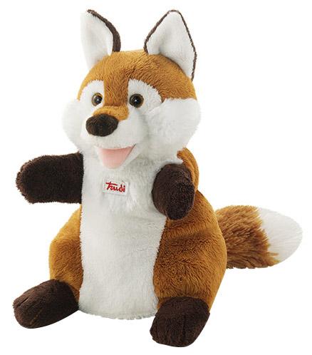Купить Мягкая игрушка Trudi на руку Лиса, 25 см, Мягкие игрушки животные