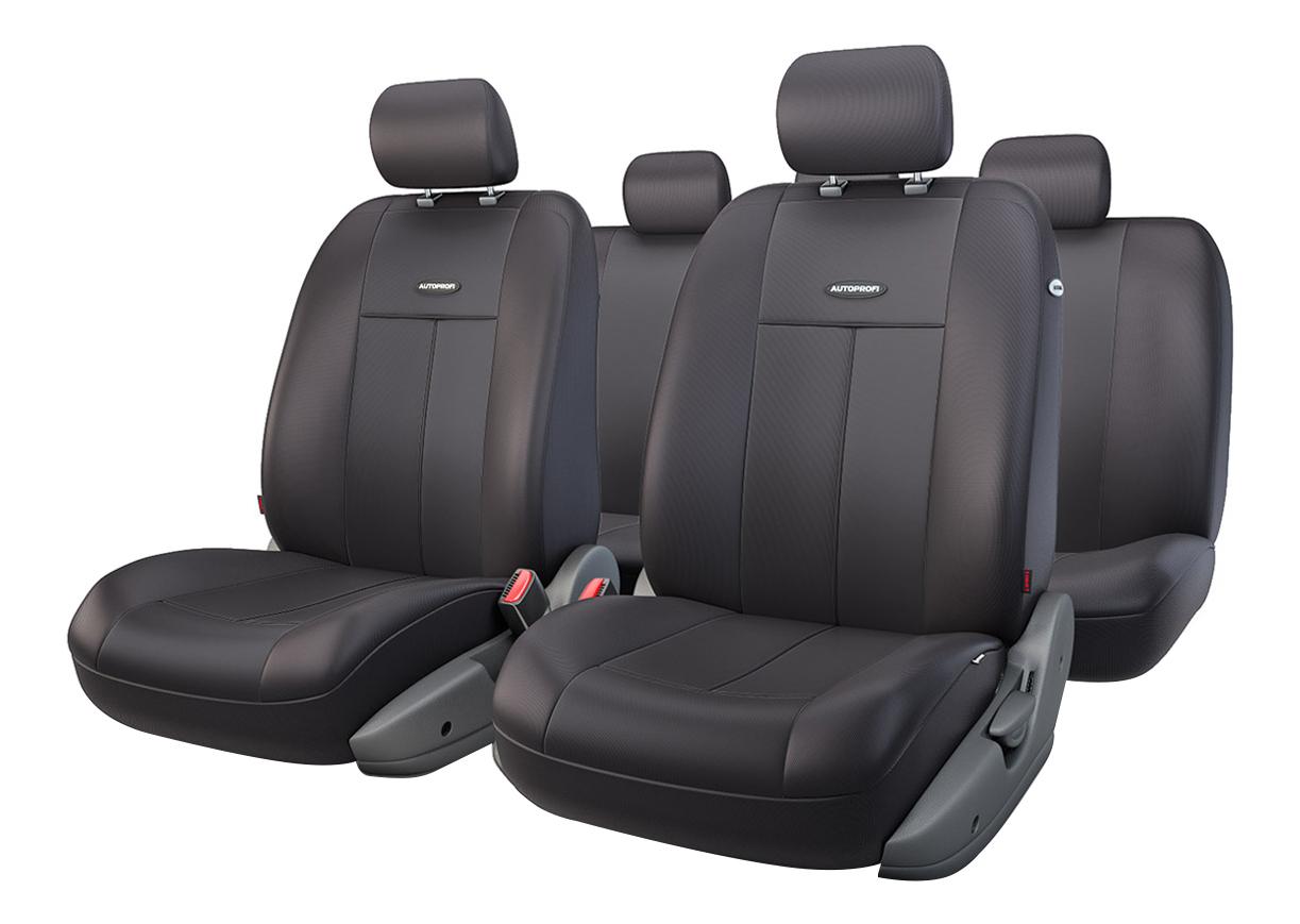 Комплект чехлов на сиденья Autoprofi TT-902P BK/BK фото