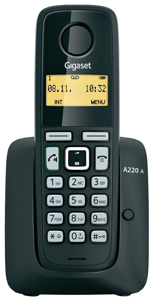 Телефон DECT Gigaset A220A черный