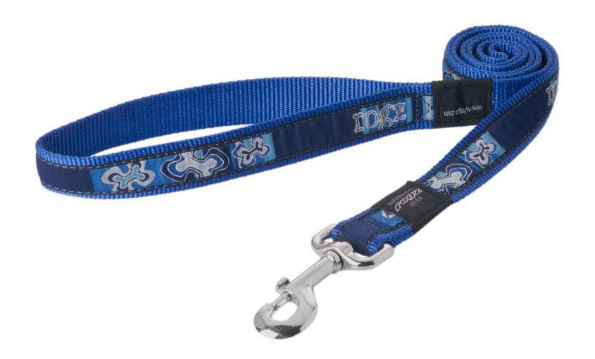 Поводок удлиненный для собак Rogz Fancy Dress XL-25мм 1,8 м (Синий HLL02BP)
