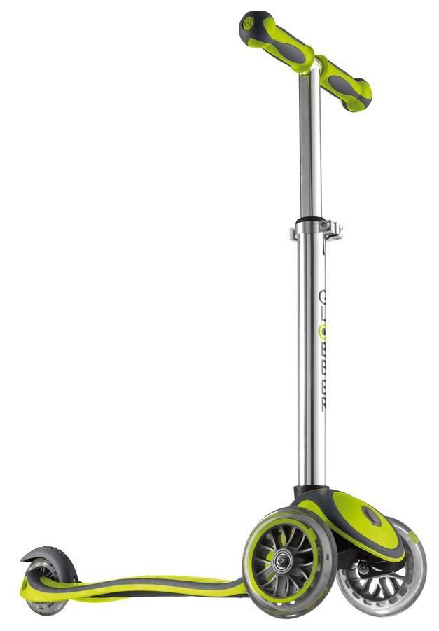 Самокат трехколесный Y-Scoo Globber My free New Technology с блокировкой колес green