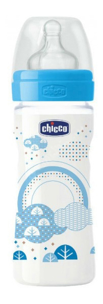 Детская бутылочка Chicco Well-Being Boy 2 мес 250 мл фото