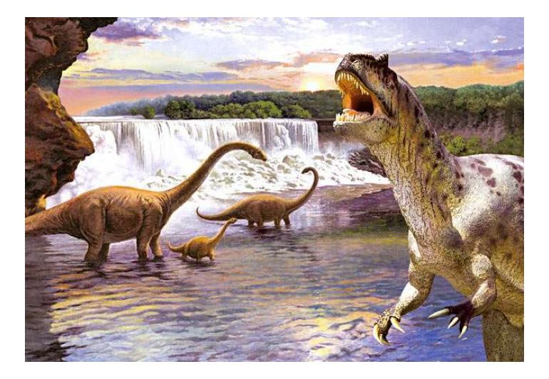 Пазл Castorland Аллозавр и Диплодок 260 деталей