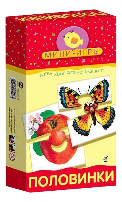 Купить Настольная мини-игра Дрофа-Медиа Половинки, Семейные настольные игры
