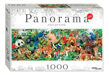 Пазл Step Puzzle Panorama. Мир животных 1000 деталей