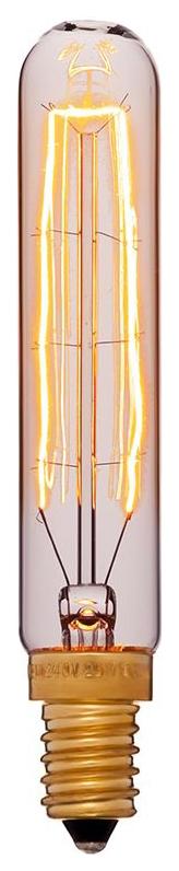 Лампа накаливания E14 40W трубчатая золотая