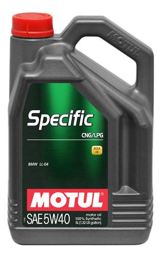 Моторное масло Motul Specific CNG/LPG 5W-40 5л 101719