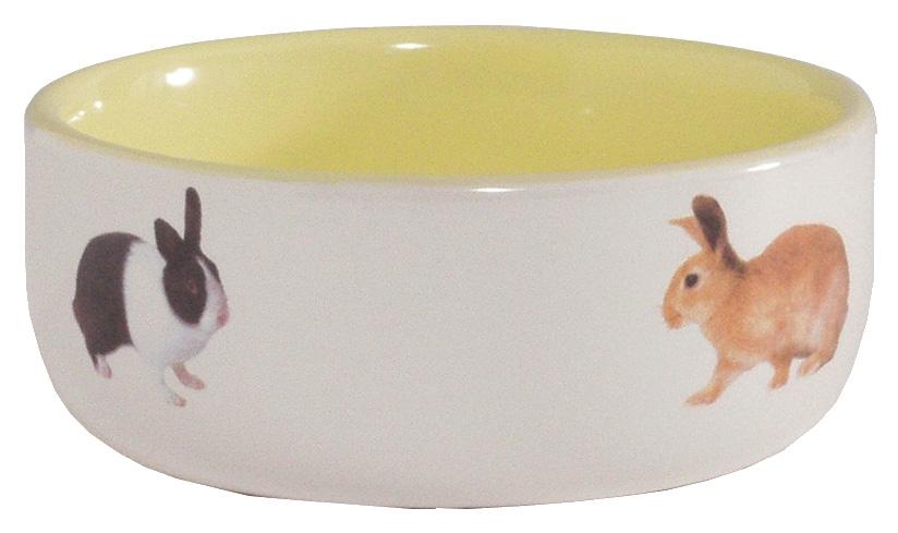 Одинарная миска для грызунов Beeztees, керамика, белый,