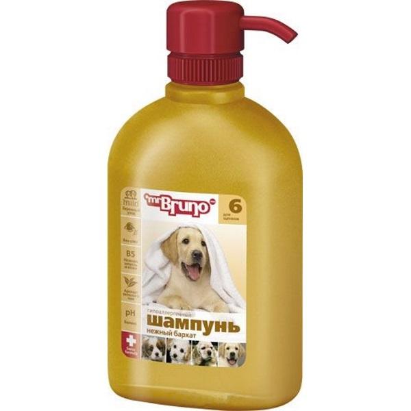 Шампунь-бальзам для собак Mr.Bruno №6 Нежный бархат, гипоаллергенный, 350 мл