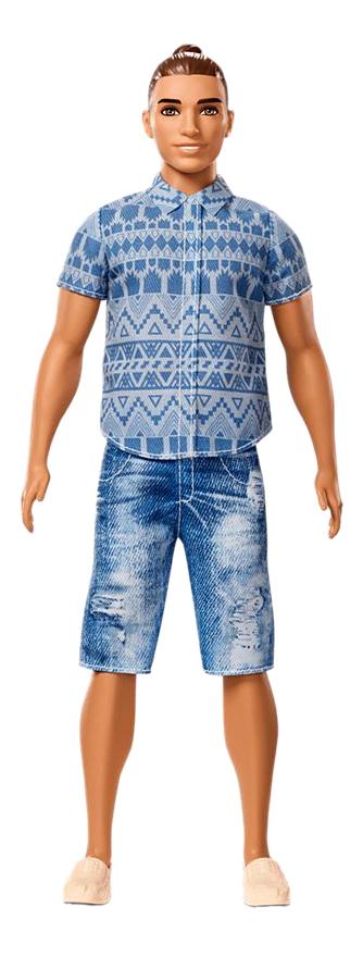 Купить Кукла Barbie Fashionistas Кен в широких джинсовых шортах,