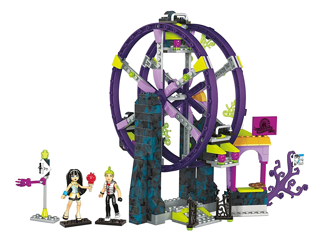 Купить Конструктор пластиковый Mega Bloks Monster High Школьный карнавал, Конструкторы пластмассовые