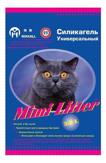 Впитывающий наполнитель для кошек Mimi Litter силикагелевый, 1.85 кг, 3.6 л фото
