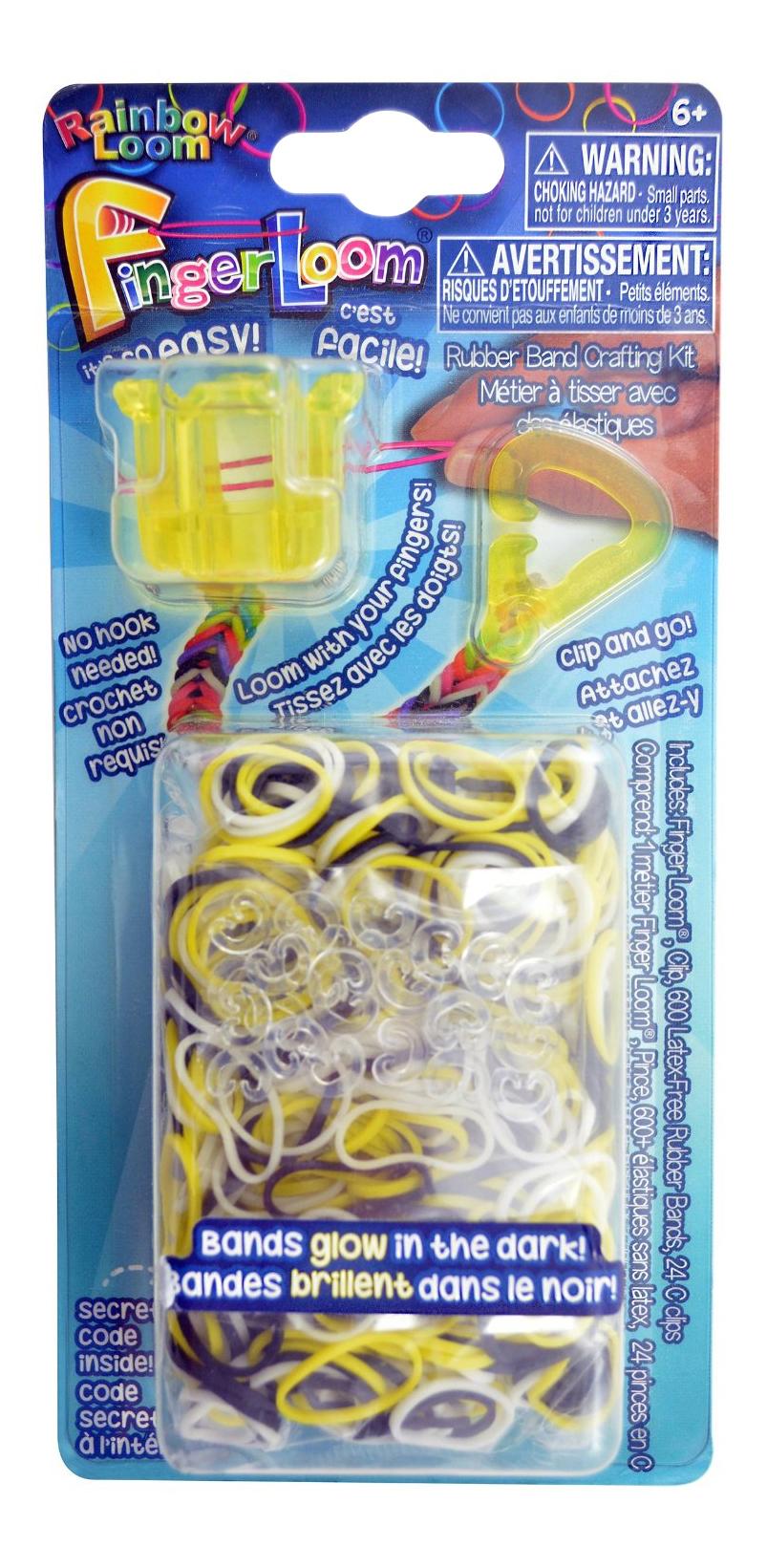 Плетение из резинок Rainbow Loom Фингер Лум жёлтый