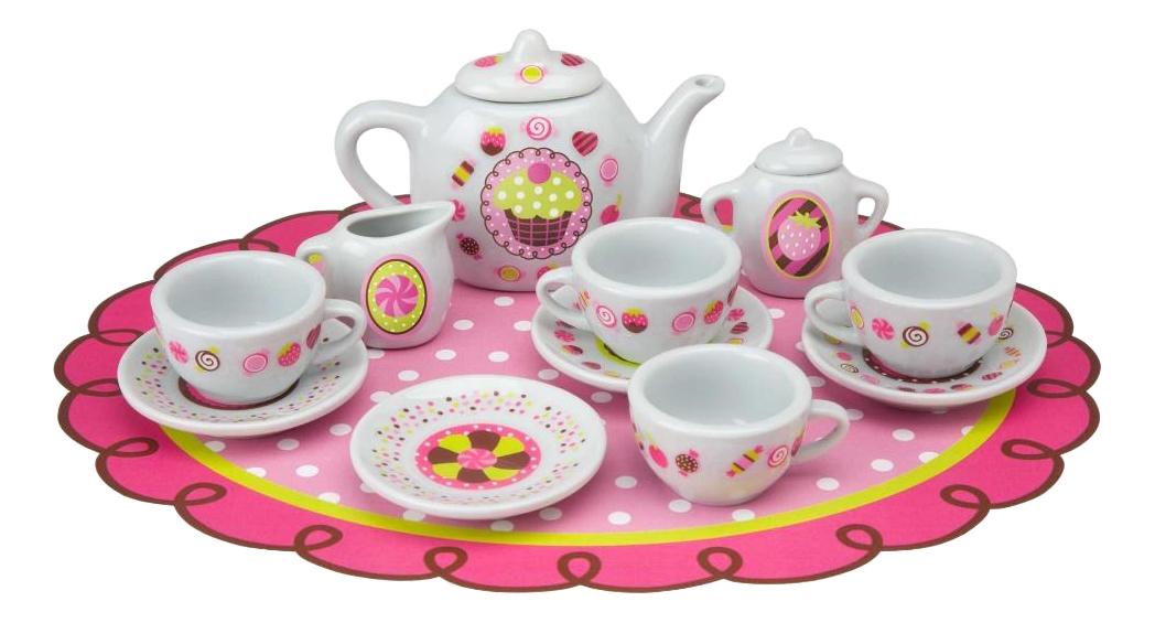 Набор посуды игрушечный ALEX Веселое чаепитие