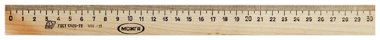 Купить Линейка деревянная Красная Звезда 30 см MLC-LD-30, Красная звезда,