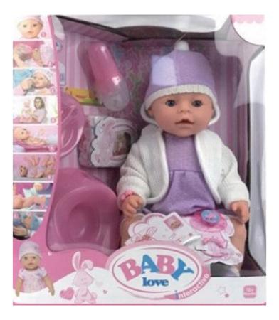 Пупс интерактивный baby Love с аксессуарами 8 функций Shantou Gepai BL020A