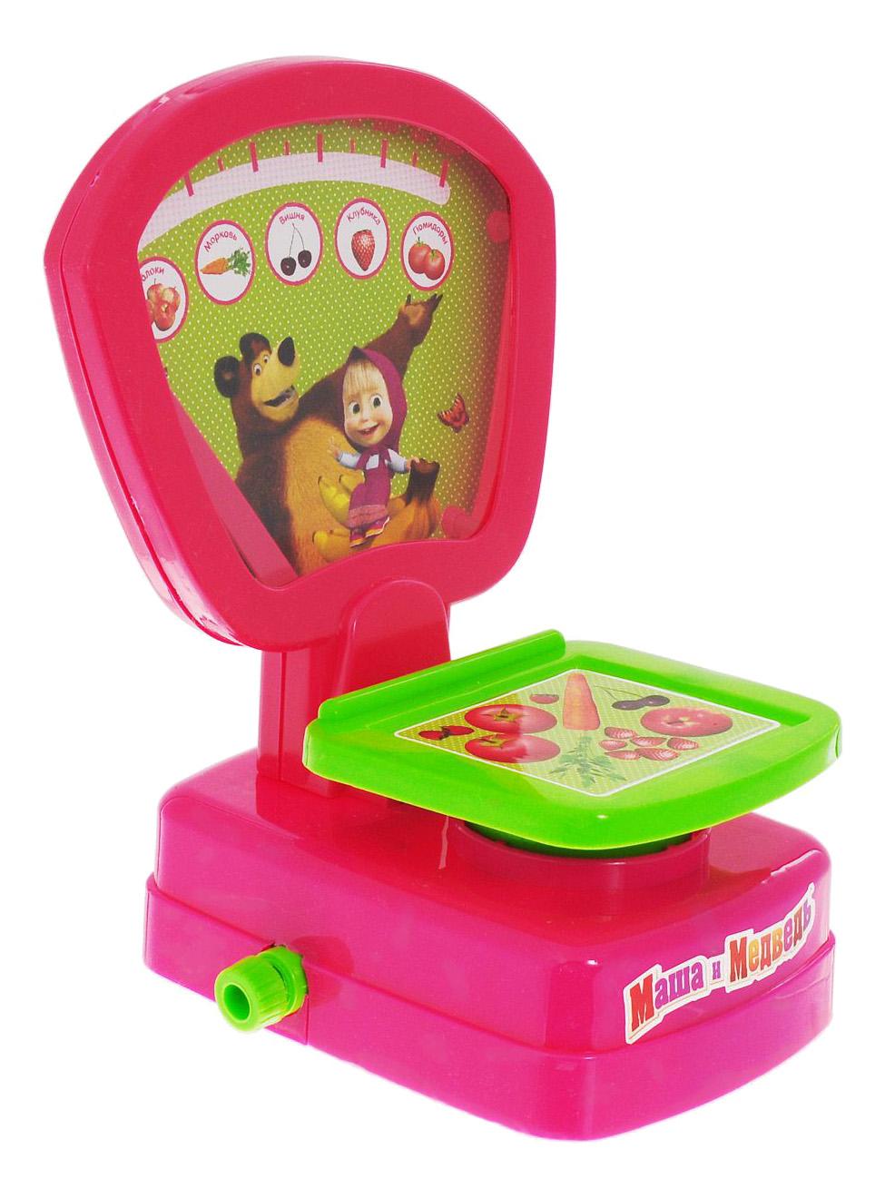 Купить Маша и Медведь, Игрушка для кухни весы Маша и медведь Играем Вместе B88306-R,