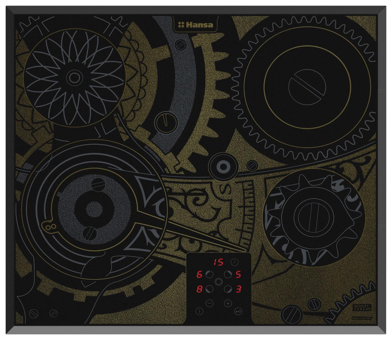 Встраиваемая варочная панель электрическая Hansa BHC66505 Brown/Black