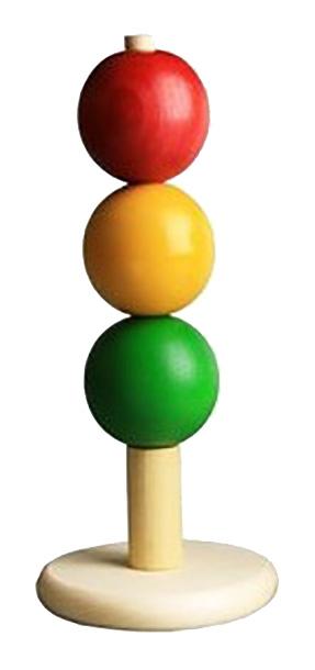 Купить Пирамидка «Светофор» Д-524, Развивающая игрушка RNToys Пирамидка Светофор малая,