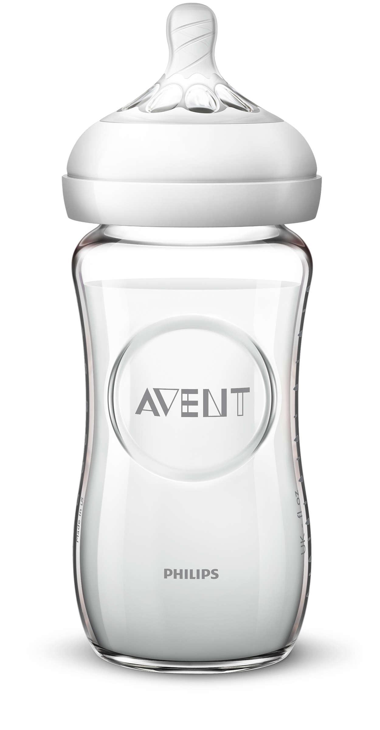 Бутылочка для кормления Philips Avent 240мл 1шт серия NATURAL 2.0 Стекло