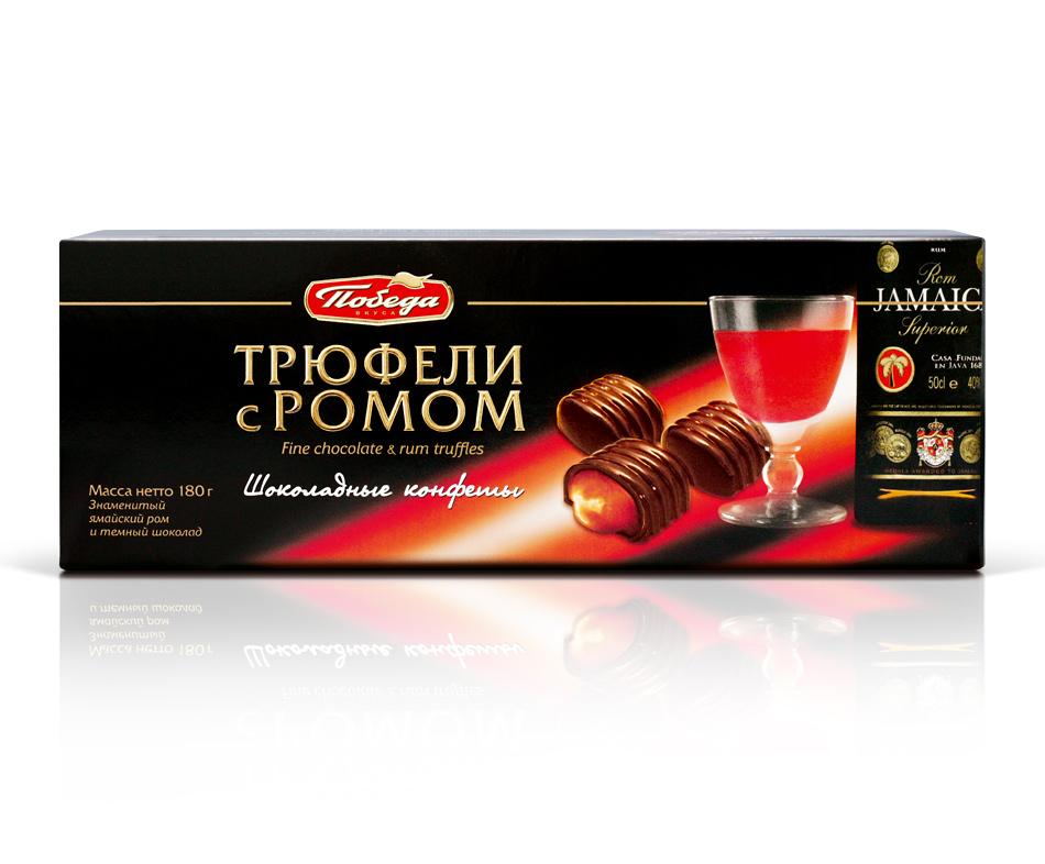 Трюфели Победа Вкуса шоколадные с ромом фото