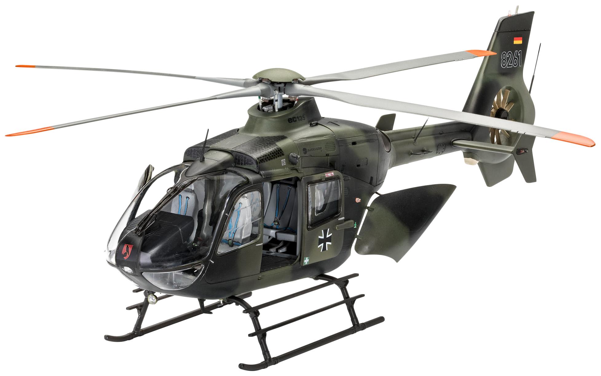 Купить Сборная модель Вертолет EC135 немецкой армии , 1:32 Revell, Модели для сборки