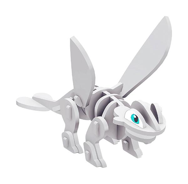 Купить Сборная модель из ЭВА Дракон Дневная фурия Magneticus, Модели для сборки