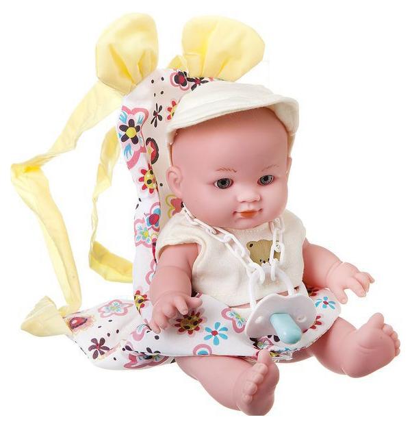 Пупс в переноске с аксесс. My Lovely Baby, PAC 19 см.,3 вида, арт. 12101P