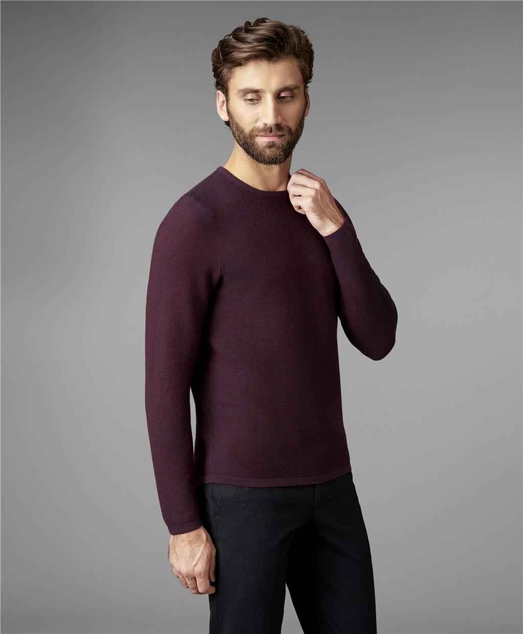 Пуловер мужской HENDERSON KWL-0685 бордовый 48 RU фото