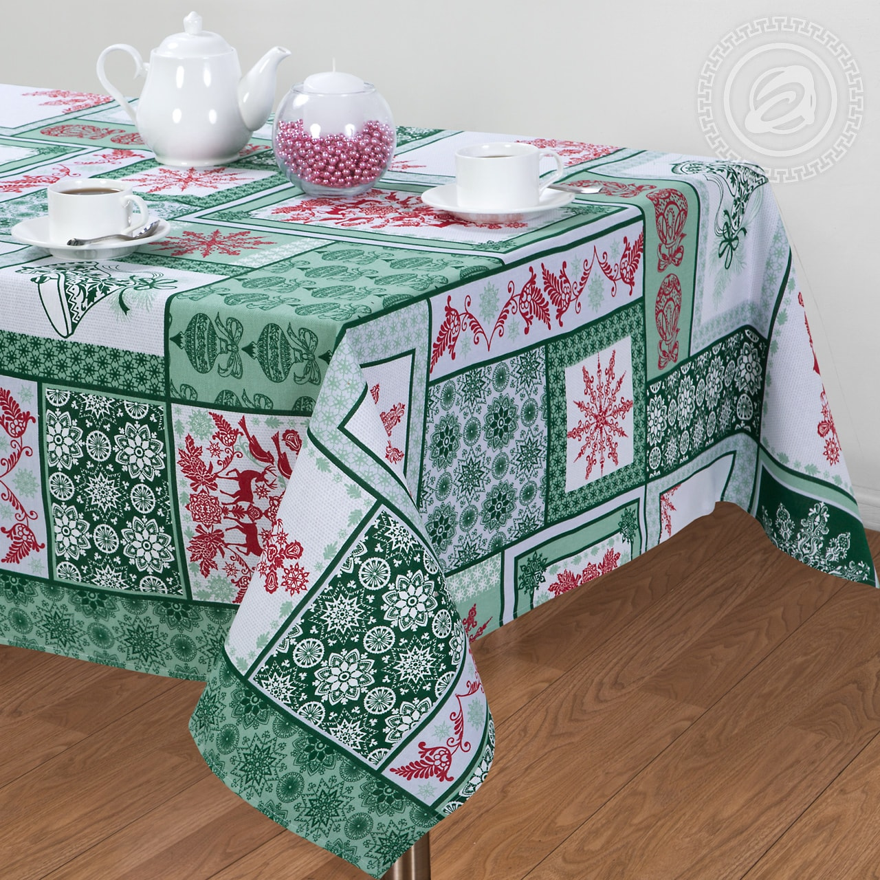 Скатерть АРТ ДИЗАЙН Shanene Цвет: Зелёный (145х150