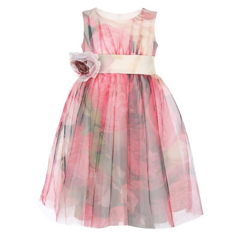 Купить Платье Розы UNONA D'ART, цв. малиновый, 128 р-р, Детские платья и сарафаны