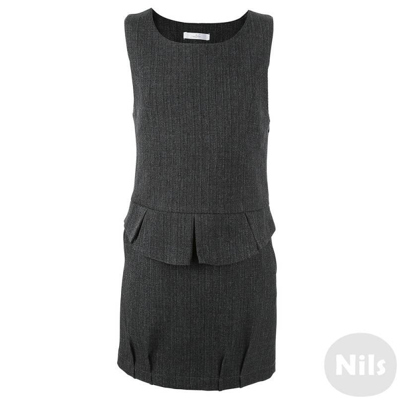 Купить Сарафан Лидер, цв. темно-серый, 128 р-р, Детские платья и сарафаны