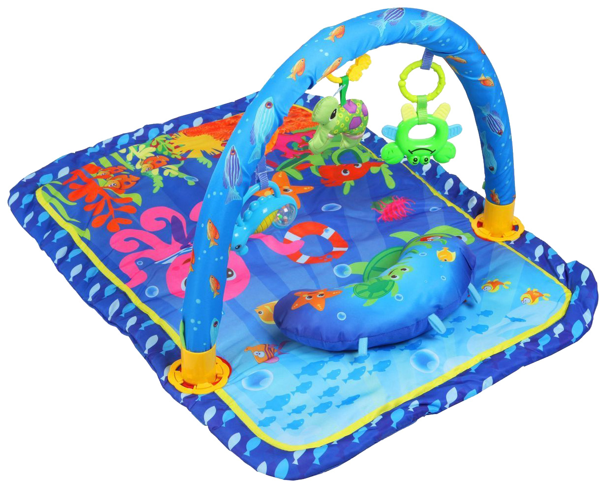 Купить Коврик развивающий Yako Морские обитатели 8300119, Yako Toys, Развивающие коврики и центры