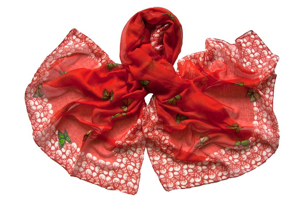 Палантин женский Tranini 176 красный