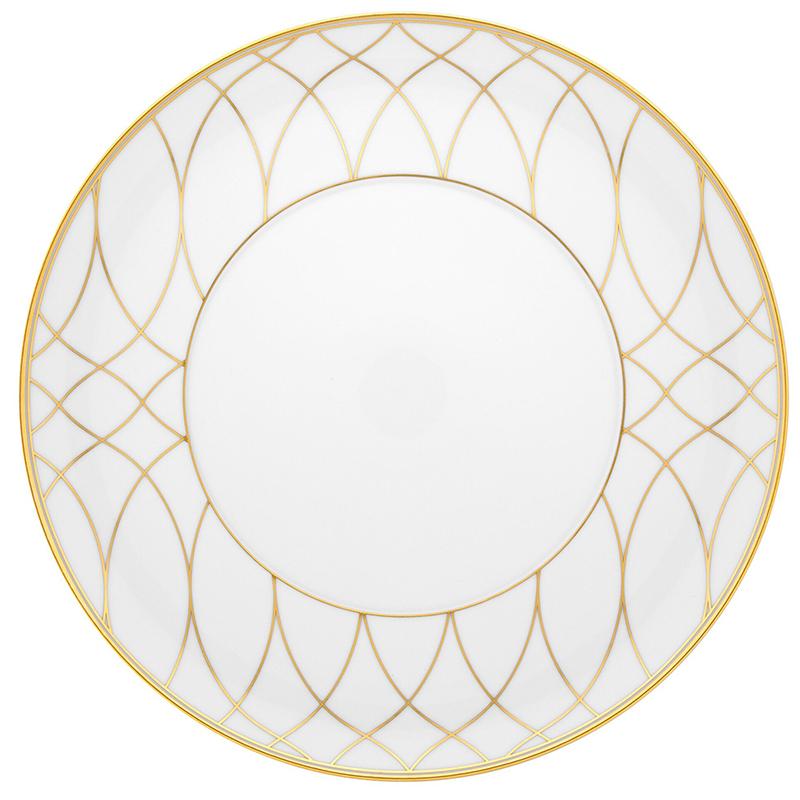 Тарелка обеденная 28,2см Vista Alegre TERRACE, цвет белый, золотой