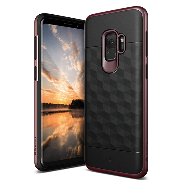 Чехол Caseology Parallax для Galaxy S9 Black/Burgundy фото